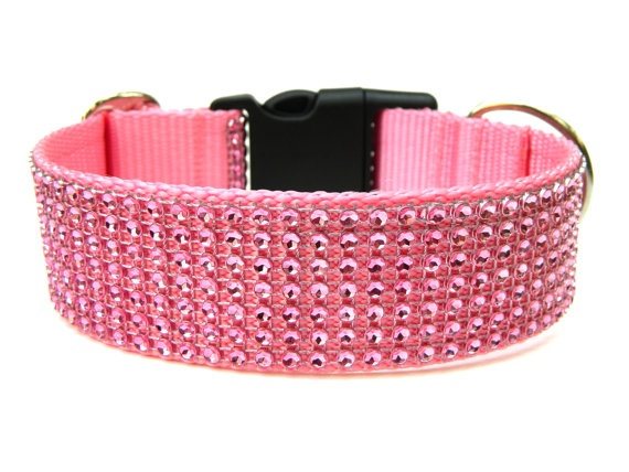 Pink Rhinestone Dog Collar now available!! <3
