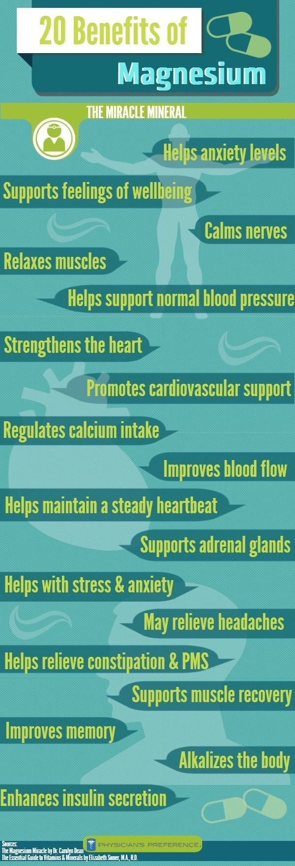 The benefits of magnesium. #nutrition #health