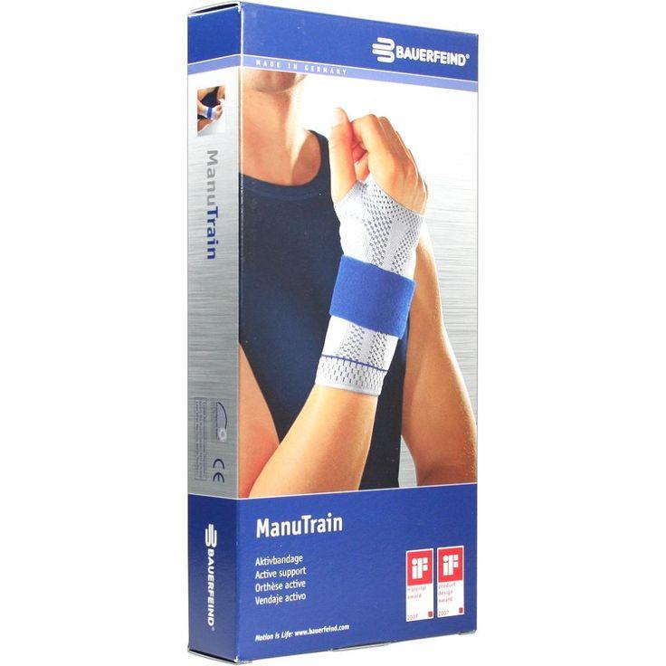 MANUTRAIN Handgelenkbandage links Grösse 2 titan:   Packungsinhalt: 1 St Bandage PZN: 01285967 Hersteller: Bauerfeind AG / Orthopädie…