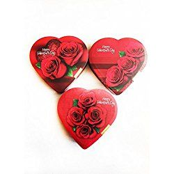 Valentine's Day Chocolate Candy (Pack of 3) (Various Design Boxes)