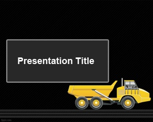 Articulated Truck PowerPoint Template is a free dark template for industry and presentation on construction