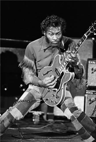Chuck Berry, by Lynn Goldsmith - Long Island, NY (1974)