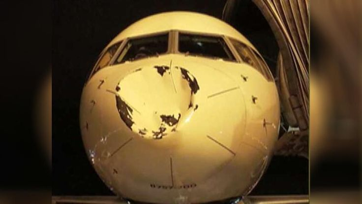 Flight carrying OKC Thunder hits something in mid-air, resulting in huge dent | Fox News