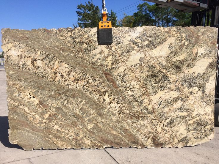 #BordeauxRiver #granite is an exceptionally appealing blend of warm creamy golds and neutral color. A perfect #granitecountertops for dark #kitchencabinets and #kitchenisland.