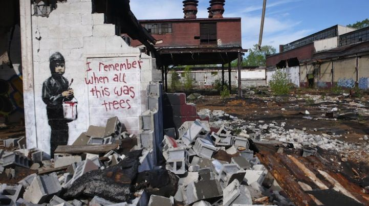 Banksy in Detroit