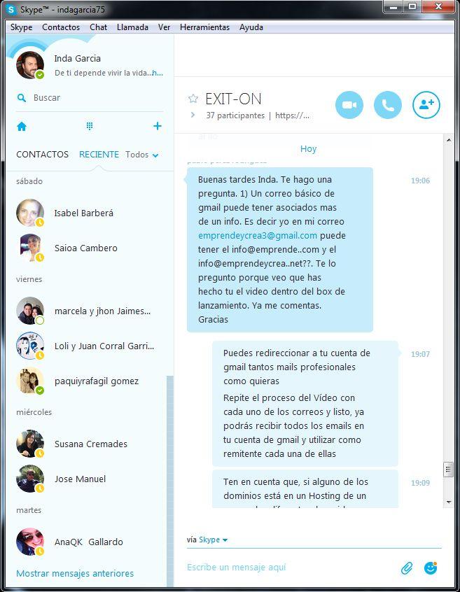 ESTA ES LA PARTE QUE MÁS ME GUSTA Y VALORO DE MI TRABAJO EN INTERNET! El apoyo contínuo a través de Skype!. Para mí es una gran satisfacción poder ayudar en todo lo posible a los miembros del equipo de emprendedores de EXIT-ON, contribuyendo a alcanzar sus metas y objetivos en cada fase de su aprendizaje. En el camino a crear y potenciar tu propio Negocio en Internet, NUNCA ESTARÁS SÓLO! Solicita Información aquí: www.triunfaonline.com/lp2?ad=skp #ExitOn #Emprendedor