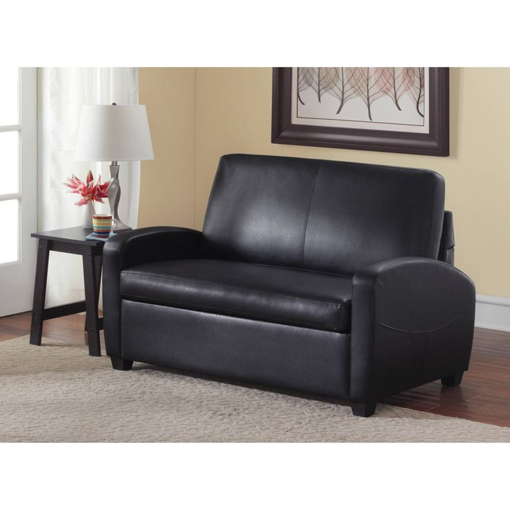 Chesterfield Sofa Faux Leather Twin Sleeper Sofa