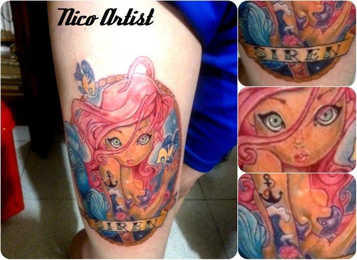 Sirena tattoo siren Nico artist Leben tattoo studio #Siren #Nicoartist