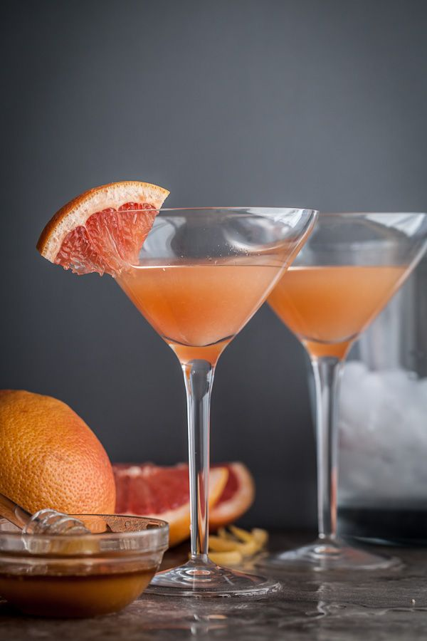 The Brown Derby: bourbon, grapefruit juice, honey syrup | Sylvie Shirazi (of Gourmande in the Kitchen) for The Boys Club