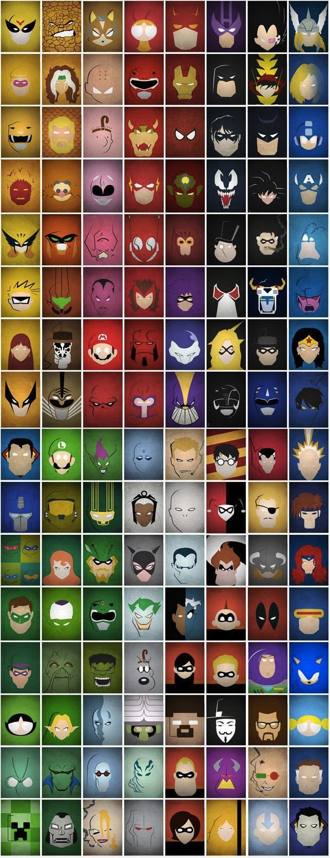 Super hero faces. This deserves to be a poster.