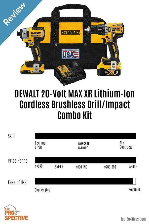 Tool Review Dewalt 20 Volt Max Xr Lithium Ion Cordless Brushless