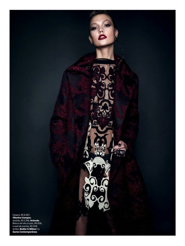 Karlie Kloss is Gothic Glam for Vogue Brazil Shoot by Henrique Gendre