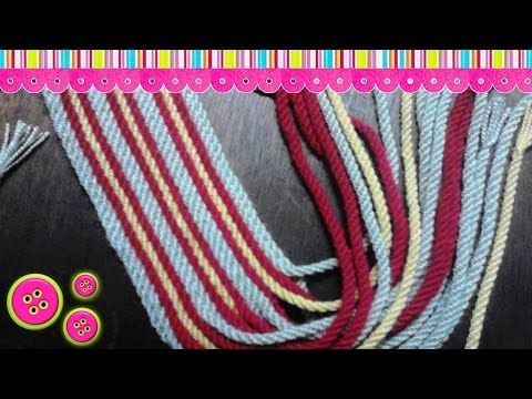 Fajon o gasa tipo Wayuu 17 cordones - YouTube