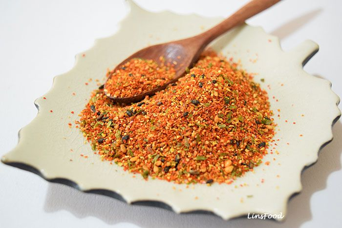 Easy homemade recipe for Shichimi Togarashi, a Japanese spice mix or condiment that has 7 different ingredients in it, heavy on the chilli!
