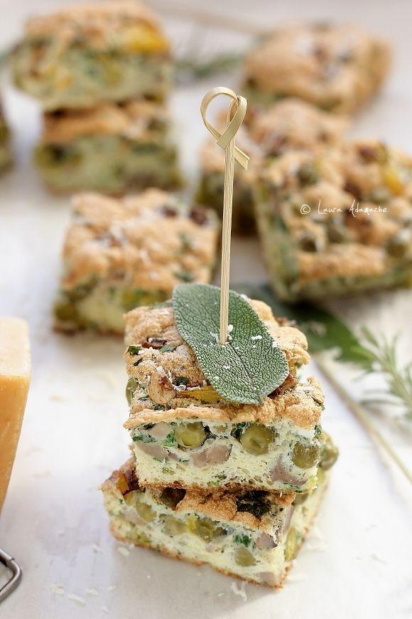 Omleta la Cuptor cu Mazare si Ciuperci (omleta dietetica mazare detaliu)