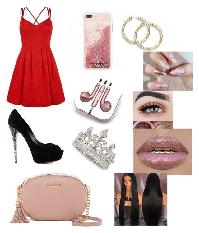 """""""Untitled #27"""" by maria-klrt on Polyvore featuring Casadei, MICHAEL Michael Kors, PhunkeeTree and Garrard"""
