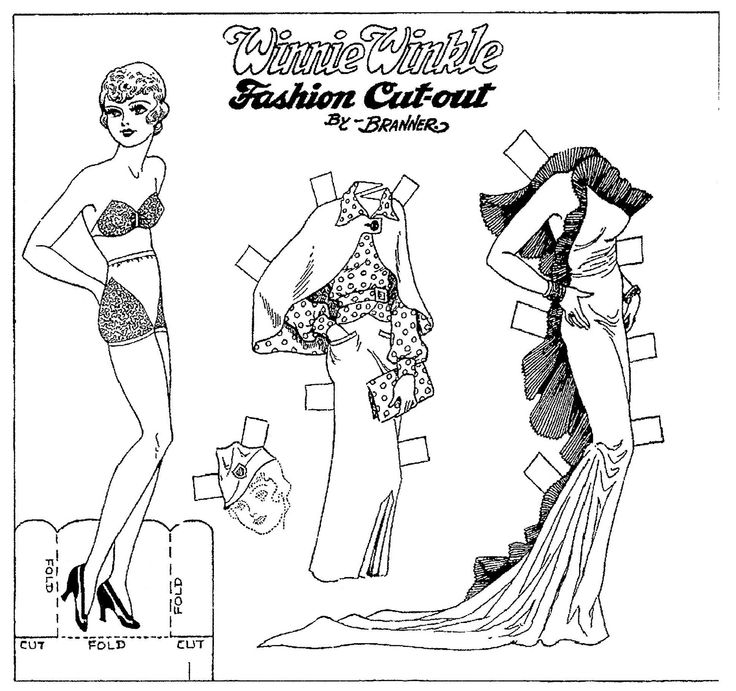 Best Black And White Paper Dolls Images On   Paper