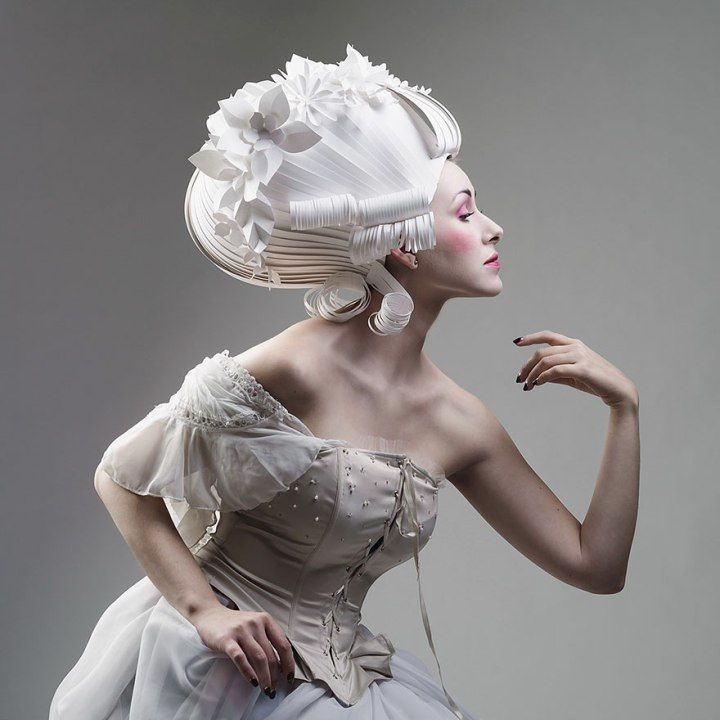 After The Wedding Dresses And Traditional Costumes Recreated With Paper,  Talented Artist Asya Kozina Has Produced A Series Of Baroque Wigs.