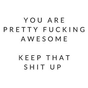 In case you were feeling down today, you're awesome!! #BossBabe