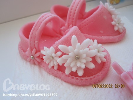 Fondant  Baby girl shoes