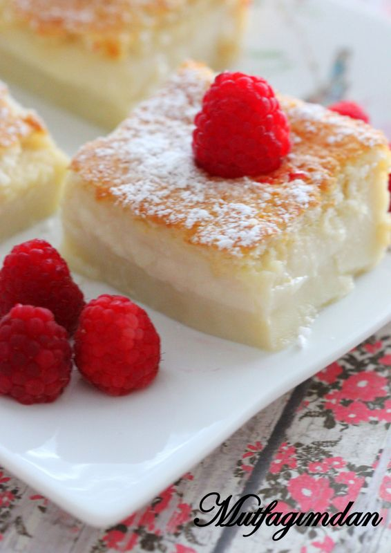 Sihirli Vanilyali Kek- Magic Custard Cake