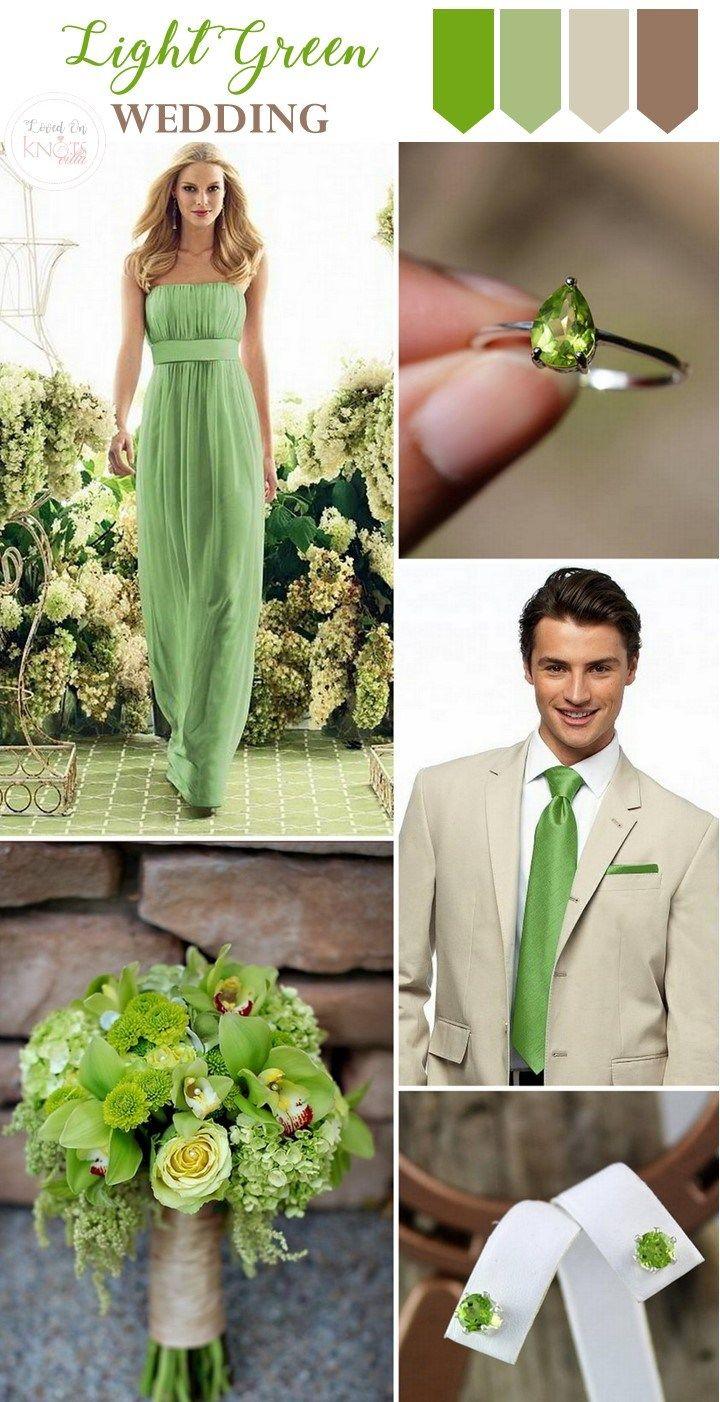 Light Green Brown Wedding Inspiration