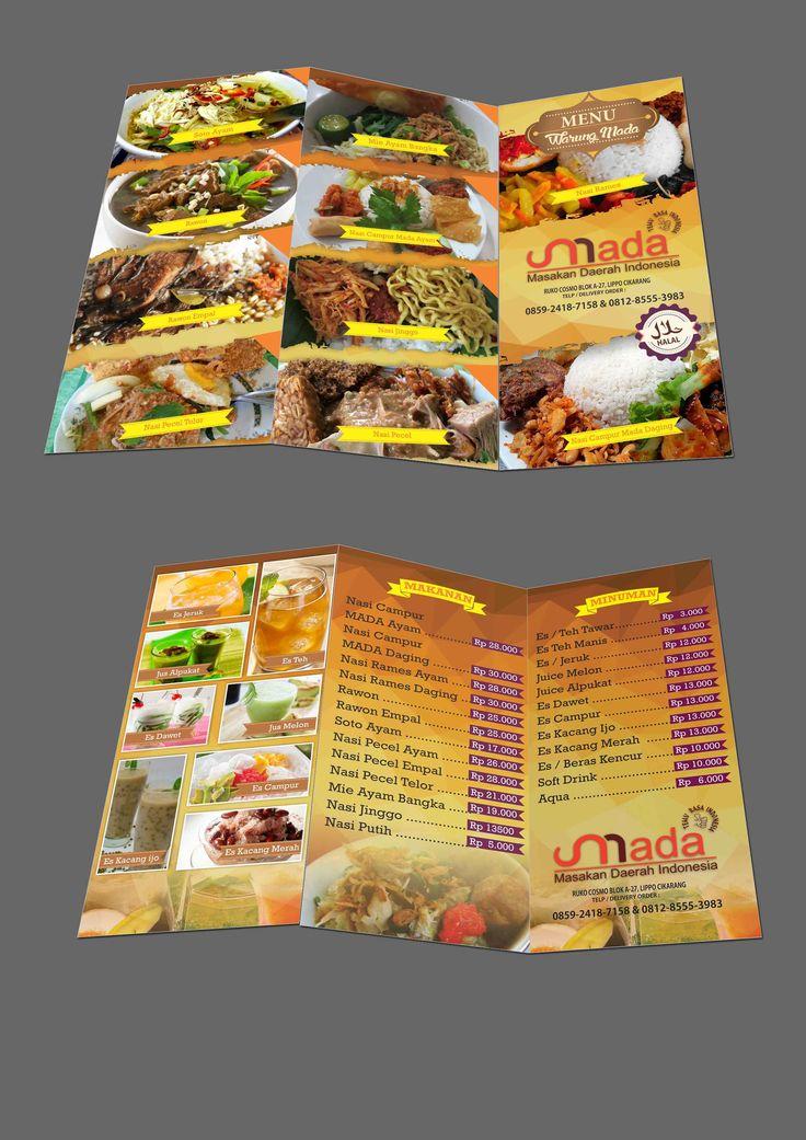 Trifold for restaurant