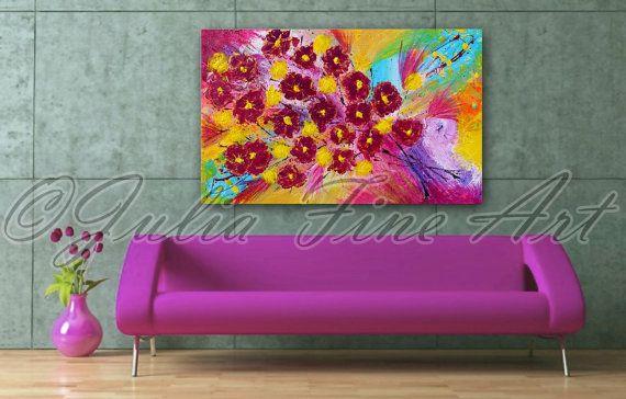 #Etsy #floralpainting #springpainting #originalpainting #art #floral
