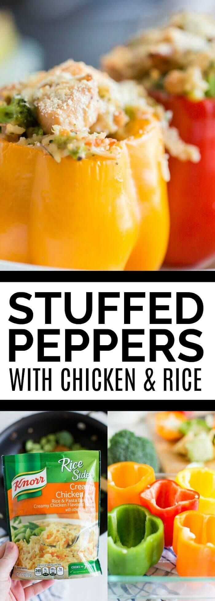 Easy Stuffed Peppers Recipe via @spaceshipslb #EatBetterLiveBetter #Walmart #ad