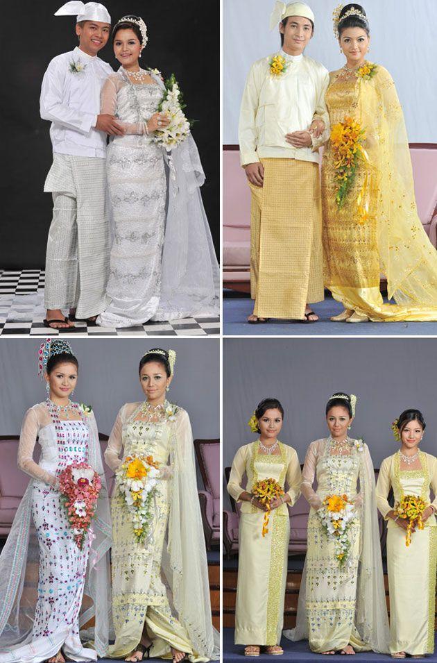 BURMESE TRADTIONAL CLOTHS   Myanmar Traditional Wedding Dresses