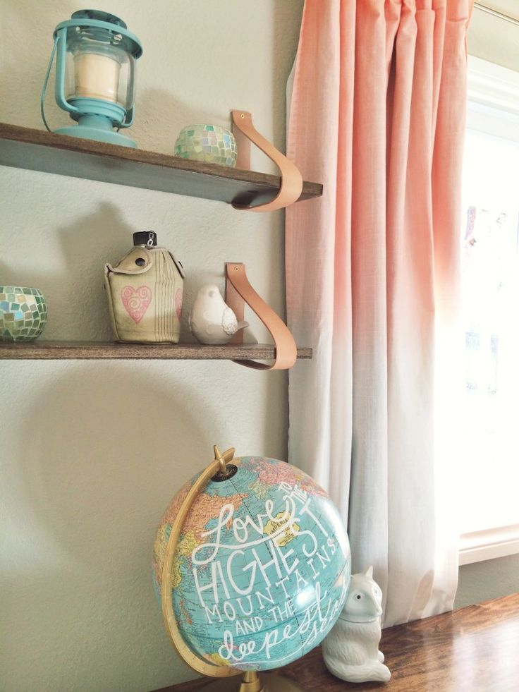 a the  nursery Hand Painted DIYs  fab SO Wood Curtains many nursery Hand dyed Vintage Quote  Leather Shelf  michael  DIY Globe with   Suspended air   jordan