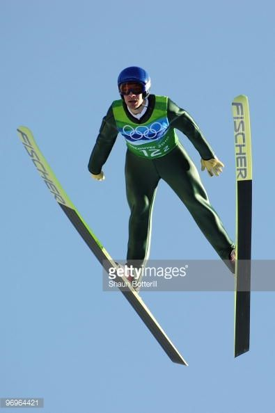 Andreas Kofler of Austria competes in the men's ski jumping team event on day 11 of the 2010 Vancouver Winter Olympics at Whistler Olympic Park Ski...