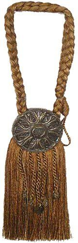 India House 76727 Tieback Medallion Tassel, 9-Inch, Earthtone Mix by India House, http://www.amazon.com/dp/B003DAGT0O/ref=cm_sw_r_pi_dp_NMxlrb0NCSTXQ: Steam Wet Tassels, India House, Medallions Tassels, 76727 Tieback, Metals 30 Percent, 36 Inch Cords, Tieback Medallions, 9 Inch Tassels, House 76727