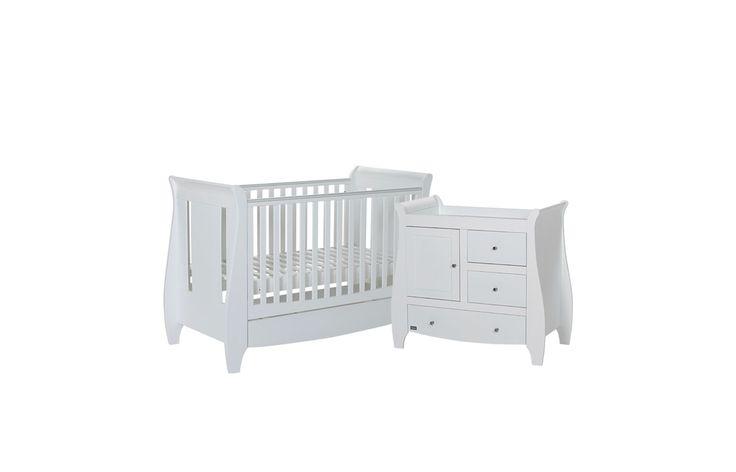 Tutti Bambini Lucas 2-Piece Nursery Bundle - White
