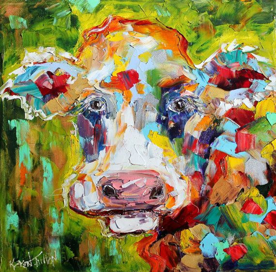 colorful cow painting - 28 images - colorful cows recipe ...