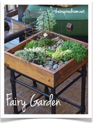 miniature gardens | Cute DIY Tabletop Mini Garden | Shelterness