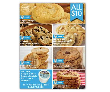 Easy Fundraising Ideas $10 Premium Collection Frozen Gourmet Cookie Dough Fundraisers are our latest in a fantastic lineup of fundraising cookie dough. And with our new exclusive $10 tubs you won't find a less expensive cookie dough fundraiser anywhere!