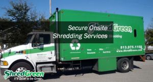 We will save you time, money, equipment, space, and personnel. ShredGreen Tampa Paper Shredding Company operates on ethical principles and maintains a high level of integrity when quoting prices and performing mobile paper shredding services.