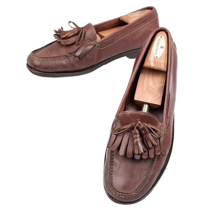 Cole Haan Loafers Shoes Tassel Kiltie Brown Leather Made ...