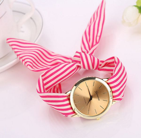 Do you want to be irresistibly adorable? This watch is for you! Instead of a strap it has a cloth strip to tie it to your wrist.