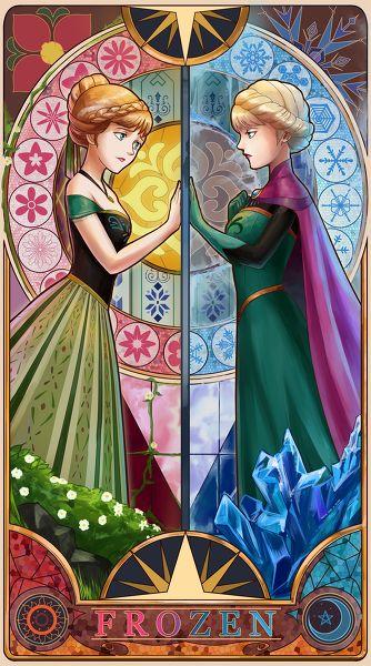 *PRINCESS ANNA & ELSA (The Snow Queen) ~ Frozen, 2013