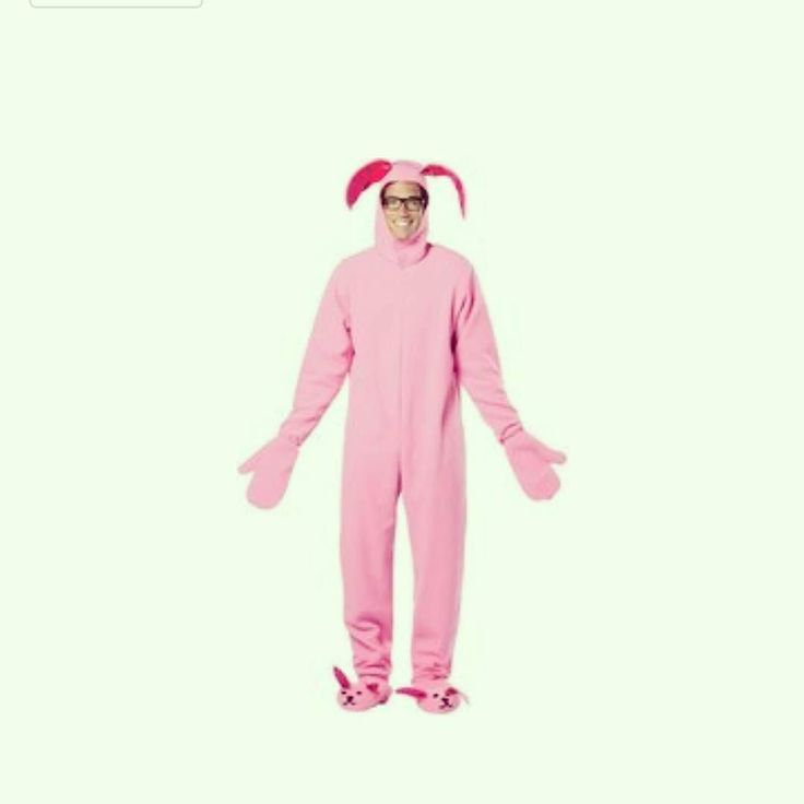 Pink Bunny Suit from the Classic Christmas movie A Christmas Story  https://www.amazon.com/gp/aw/d/B01IPJS1R6  This great bunny suit with attached bunny ear hood and bunny feet!  Adult standard fits sizes 42-48.  Contact us at 585-482-8780 for more information or check out select costumes and accessories on our Amazon page or website www.arlenescostumes.com  #christmasstory #pinkbunny #ralphtherex #christmas