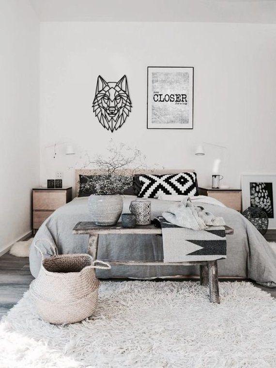 #metal #wallart #homeArt #geometric #Wolf #walldecor #madeofsteel #home #decor #Polygonal