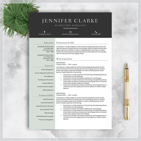Resume Template CV Template for MS Word by cvtemplatesbydesign