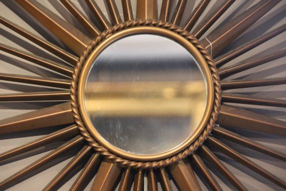 Gold Sunburst Mirror Hanging Decor Wall Art Wall Mirror Feng Shui Mirror Sun Mirror Gold Mirror Starburst Mirror Wall Decor Round Mirror Starburst Mirror Wall Sunburst Mirror Mirror Wall Decor