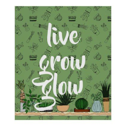 Home Potted Plants Doodle Art Poster - individual customized designs custom gift ideas diy