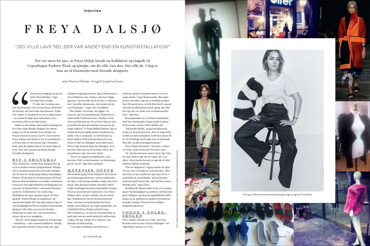 Layout for the danish fashion magazine Costume