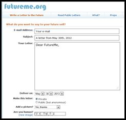 Future Me - Let students send a letter to themselves in the future. #edchat #engchat: Fab Ideas, Student Writing, Student Send