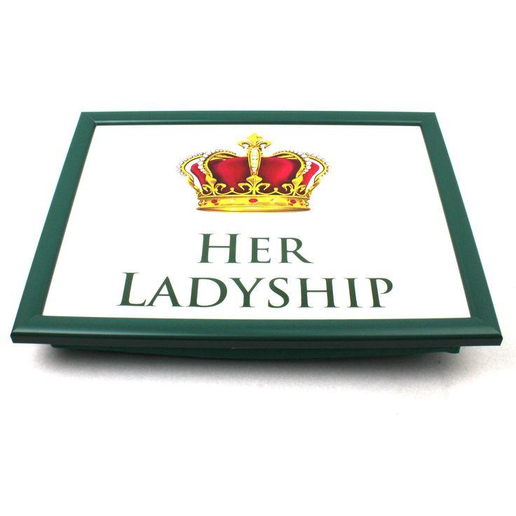 Lap Tray Bean Bag Tv Breakfast Bed Student Dinner Laptop Cushion Her Ladyship