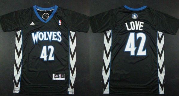 Minnesota Timberwolves #42 Kevin Love Revolution 30 Swingman 2014 Black Jersey